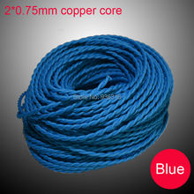 5m/lot blue Edison l& braided electrical wire Cables Household wiring 2*0.75mm^2 inner copper core : edison wiring - yogabreezes.com