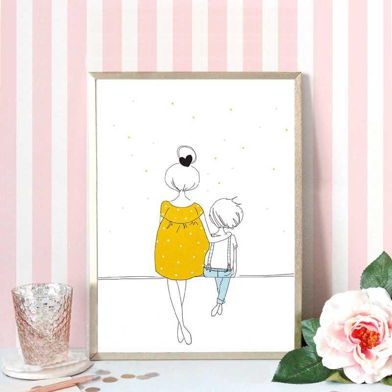Дети иллюстрации книги по искусству принт милый холст картина плакат мультфильм картина спальня детская для малышей стены печать домашний декор