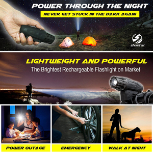Image 5 - USB Rechargeable LED Flashlight Bicycle Light Bike Lamp Front LED Headlight For night riding, fishing, hunting, camping, etc.
