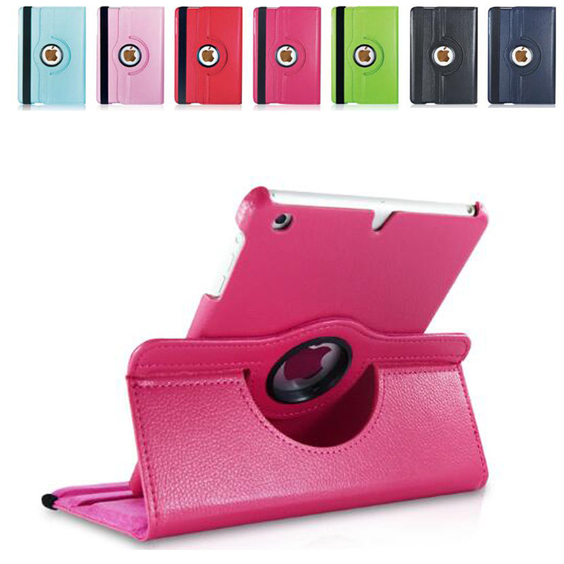 For iPad 2/3/4 Leather Case 360 degrees flip leather back cover case For apple ipad air2 Smart Cover for Ipad 2 3 4 Tablet case