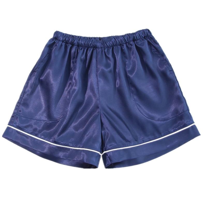 2018 Summer Silk Shorts Women and Men Sleep Shorts Women Pajamas Shorts Couple Sleepwear Short Pants ...
