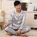 Nueva Solid Hombres de Dibujos Animados Leisurewear Pijamas V-cuello Trajes Homewear Manga Larga ropa de Dormir