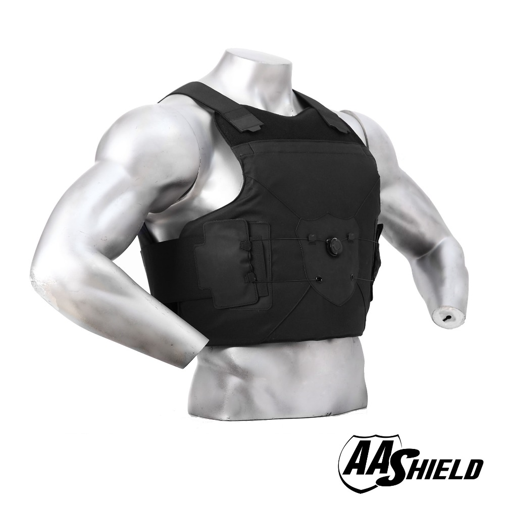 цены AA Shield Ballistic Vest Body Armour Suit Comfortable Dial Buckle Carrier Bulletproof Aramid Core Insert Safety M/L Color Black