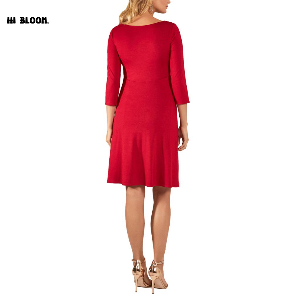 Fashion Maternity Evening Gown Red Dress For Pregnant Women ...