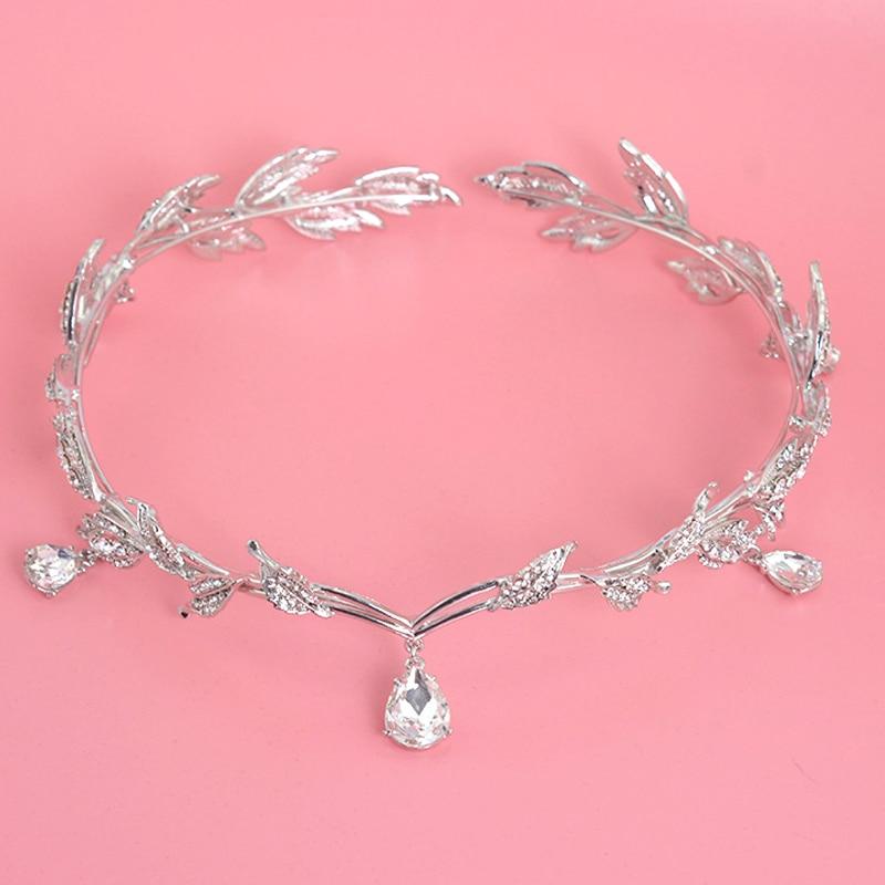 Mahkota kristal, Aksesori rambut pengantin, Berlian imitasi - Perhiasan fashion - Foto 4