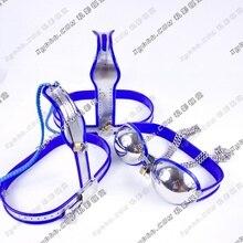 Секс Инструменты для Лидер продаж 2 предмета/партия нержавеющая сталь женский пояс верности пикантные секс-игрушки БДСМ бондаж комплект секс-игрушки для женщины.