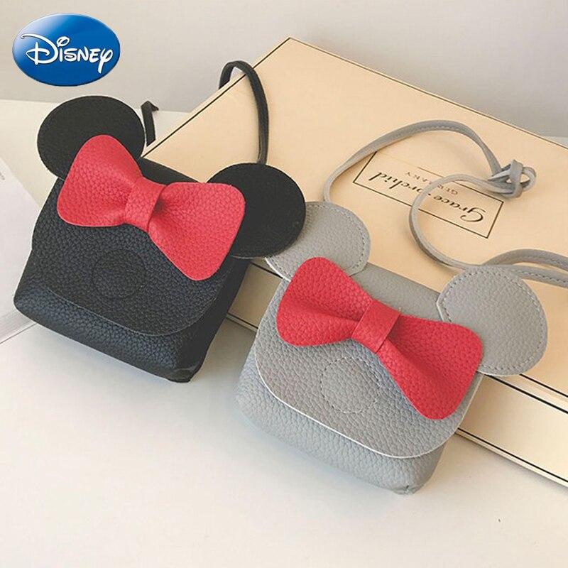 Disney Mickey Mouse Cartoon Female PU Mini Bag Handbag Leisure Fashion Satchel Shoulder Shopper Lady Handbag Plush Backpack