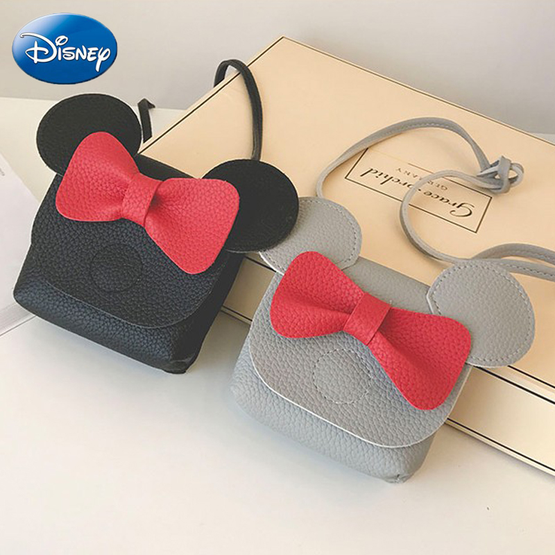 Disney Mickey Mouse Cartoon Female PU Mini Bag Handbag Leisure Fashion Satchel Shoulder Shopper Lady Handbag Plush Backpack