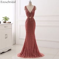 2017 Real Image Sweetheart High And Low Prom Dress Appliques Tulle Train Prom Gown Sleeveless Formal