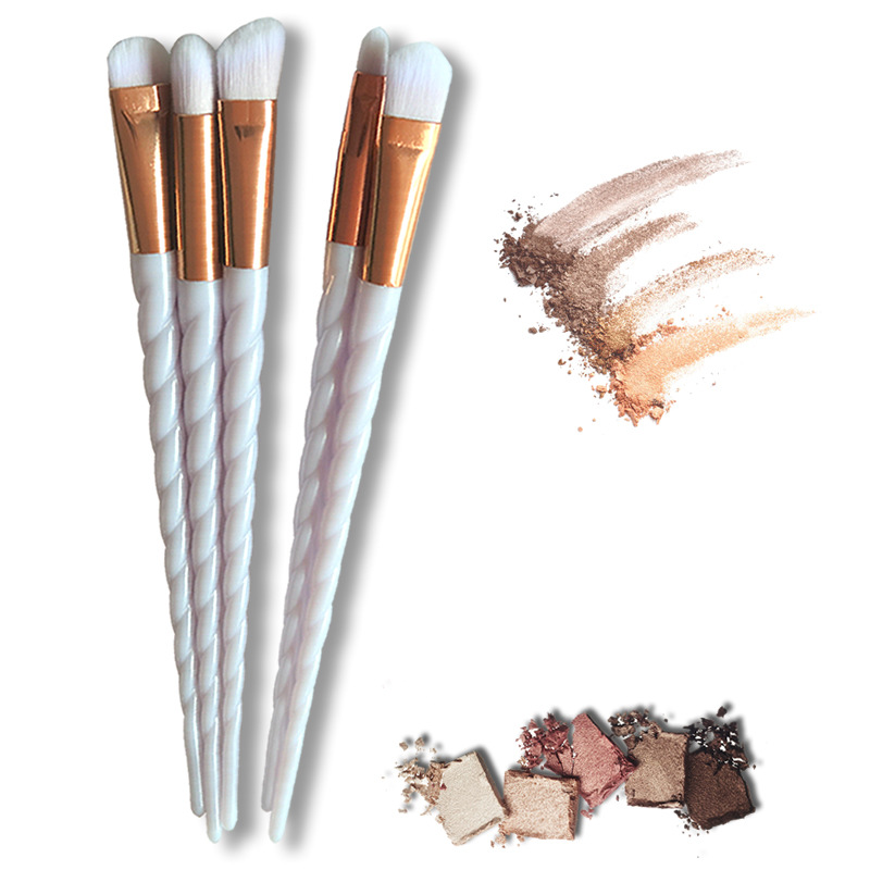 Professional 5Pcs/Sets Eye unicorn Makeup Brushes Cosmetic Tool Make Up Eye Brushes Set Eye Shadow Foundation Eyebrow Lip Brush 12pcs professional makeup brushes eye shadow foundation lip brush set cosmetic tool eye face cosmetic make up brush tool kit
