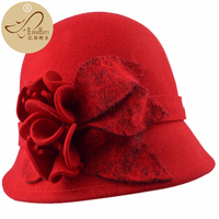 Woman Autumn And Winter Party Formal Hat England Fashion Elengant Irregular 100% Wool Felt Hats W10 3879