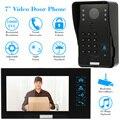 """KKmoon Проводной Сенсорный Ключ 7 """"видео-Телефон Двери Интерком Дверной Звонок Система Комплект Ночного Видения 1 RFID Клавиатуры Код ИК-Камеры + 1 Монитор"""