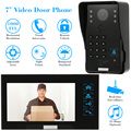 "KKmoon Wired Touch Key 7"" Video Door Phone Intercom Doorbell System Kit Night Vision 1 RFID Keypad Code IR Camera +1 Monitor"