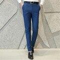 2017 men's fashion boutique business suit pants Male boutique quality cotton pure color casual pants Formal dress pants trousers