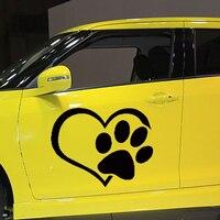 50 cm x 43.75 cm Klasik Kalp Pençe Araba Sticker Arabalar Için Yan, kamyon Pencere, oto SUV Kapı Kayık Vinil Çıkartması 8 Renkler