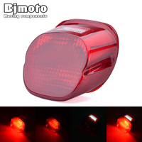 BJMOTO Motorcycle Tail LED Light Brake Stop Lamp For Harley Davidson Sportster 1200 Dyna Cross Bones Heritage Softail Road Glide