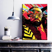 Xdr296 Wearing Glasses MODERN ABSTRACT Man WALL PAINTING ON CANVAS Banksy Artwork Graffiti Street Art Best