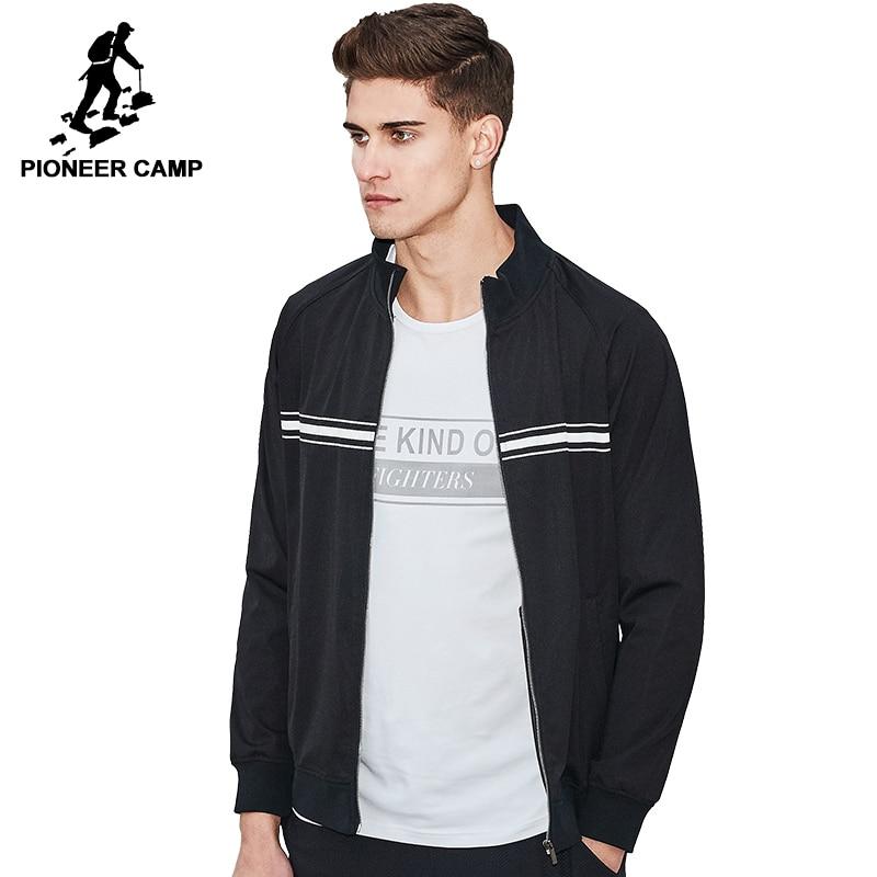 Пионерский лагерь новый дизайн весенняя куртка пальто брендовая мужская одежда модные черные куртки мужчины высшего качества Повседневны...