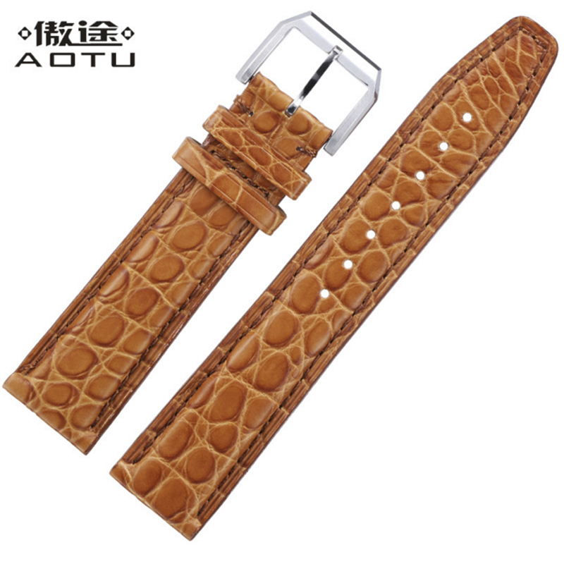 Genuine Leather Watch Straps For IWC PORTOFINO PORTUGIESER Men Watchband 20mm Vintage Leather Top Quality Watch Band Saat Belt genuine leather watchband for tissot t41 le locle top quality men watch straps 20 22 24mm soft leather bracelets male watch band