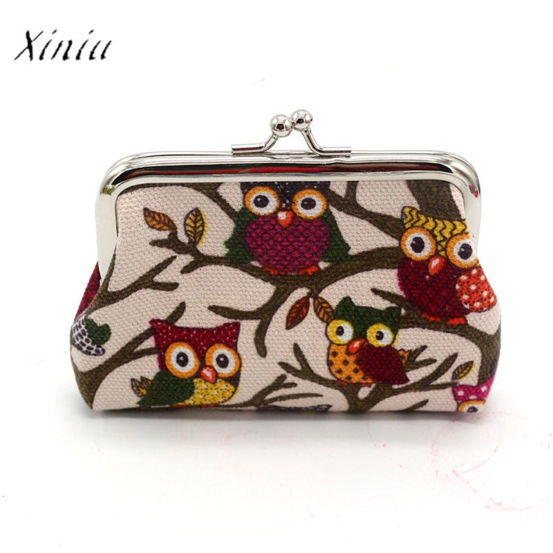 Fashion Women Animal Coin Purse Lovely Style Lady Small Wallet Hasp Owl Purse Clutch Bag Billeteras Para Mujer Carteira 2 Sizes Luggage & Bags