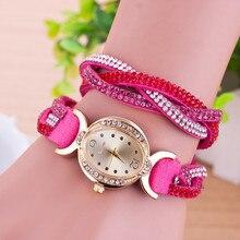 Relógio de Forma das senhoras Vestido de Strass Diamante Relógios de Marca De Luxo mulheres relógio de Quartzo de pulso relogios femininos T6303