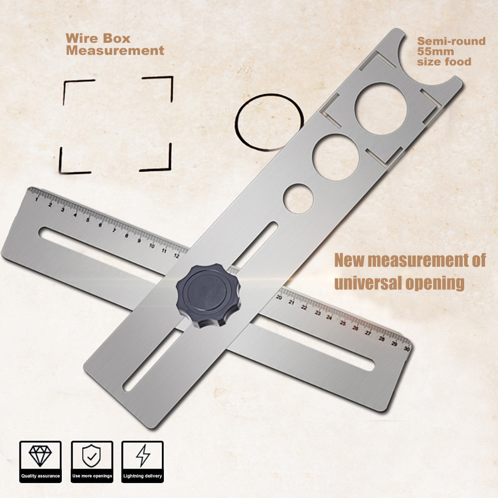 Tile Borehole Locator Multifunctional Adjustable Position Puncher Auxiliary Tool JA55