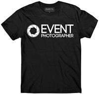 PHOTOGRAPHER t shirt, Event photographer shirt GLOW IN THE DARK, Event t shirt Cheap wholesale tees,100% Cotton For Man