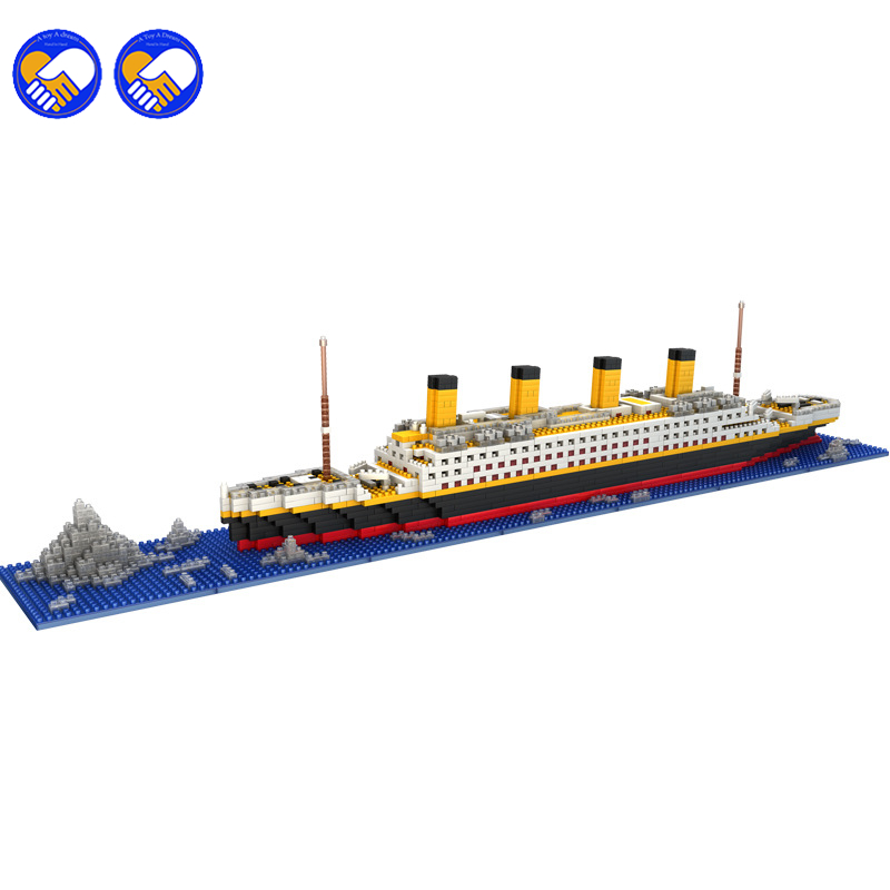 A toy A dream LOZ The Titanic DIY Assemble Building Blocks Model Classical Toys Gift for Children toys kids gift weir a the martian a novel