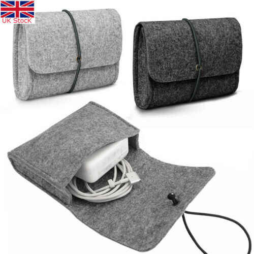 Vilt Sleeve Bag Pouch voor LADER/MUIS Power Adapter Case Soft Bag Storage Voor Mac MacBook Air Pro Retina