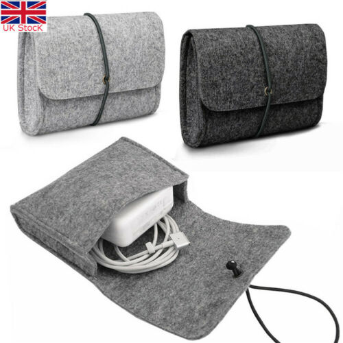 Felt Sleeve Bag Pouch For CHARGER / MOUSE  Power Adapter Case Soft Bag Storage For Mac MacBook Air Pro Retina