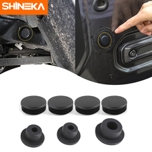 цена на SHINEKA Removable Waterproof Car Chassis Frame Round Hole Dust Plugs Tail Door Rubber Plug Cover For Jeep Wrangler JL 2018 Up