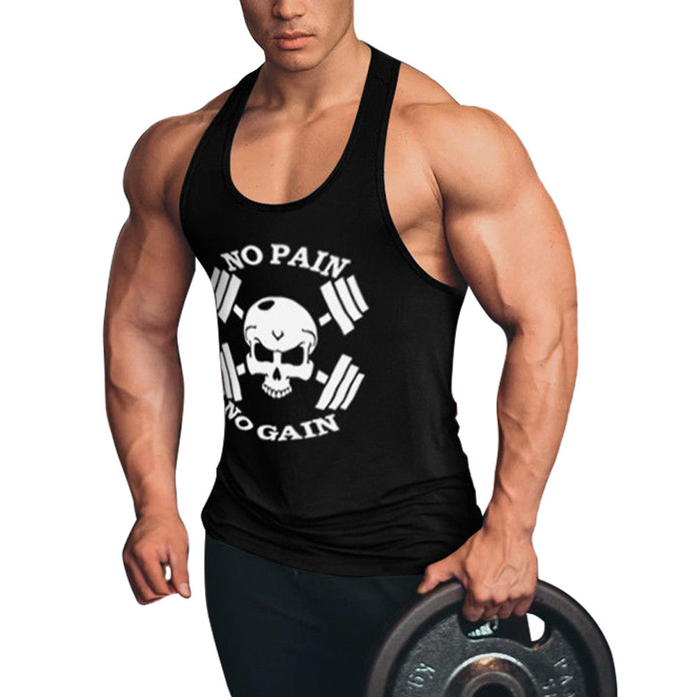 Men's Fitness Beast   Tank     Tops   Gyms Beast Athletic Men Bodybuilding Vest Singlet Fitness Shirts
