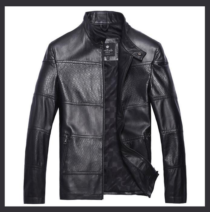 Designer Mens Leather Jacket - Jacket