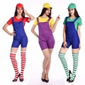 New Halloween Costumes Women Super Mario Brothers Plumber Costume Jumpsuit Fancy Cosplay Clothing for Adult Women