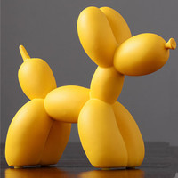 Art Balloons Dog Statue Animal Resin Craftwork American Living Room Wine Cabinet TV Cabinet Decoration L2856