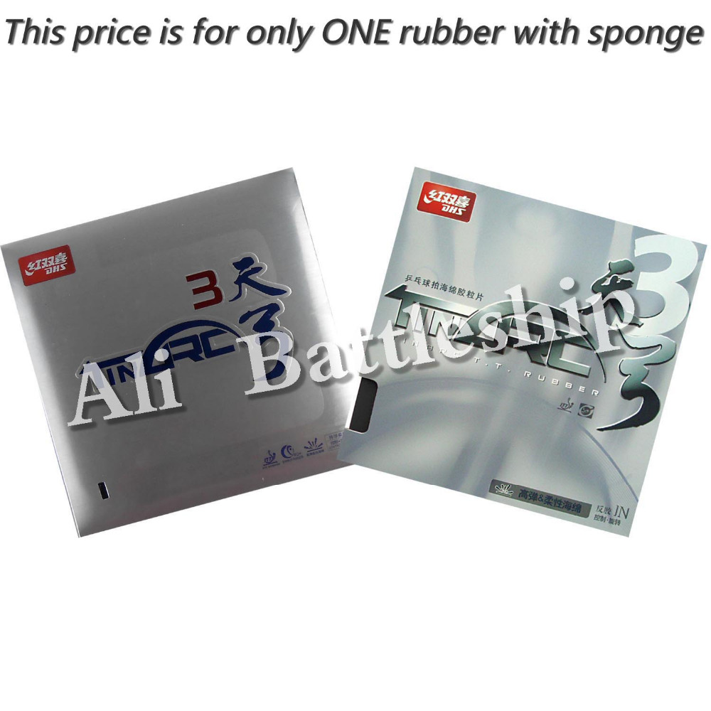 Original DHS TinArc 3 TinArc3 TinArc III Pips-in Table Tennis Pingpong Rubber With Sponge