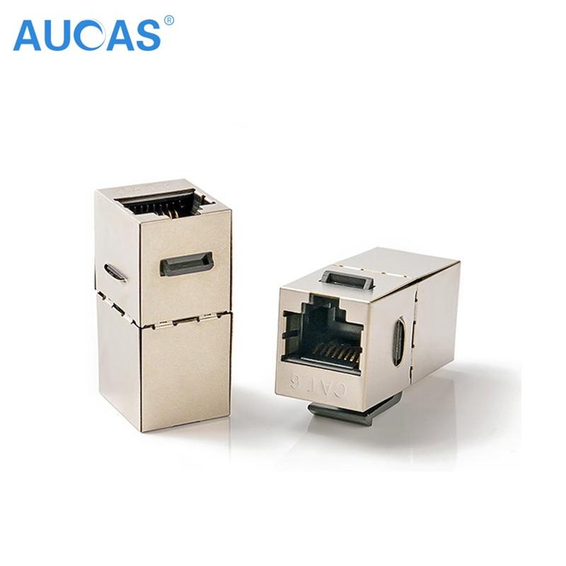 10PCS AUCAS didelės spartos RJ45 Cat6 FTP cinko lydinio modulis - Kompiuterių kabeliai ir jungtys