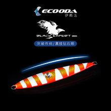 Ecooda BLACK EXPERT 150g200g260g360g Diamond eye Jigging Lure Glowing Lead Fish Slow Sinking Artificial Seawater Bait(China)