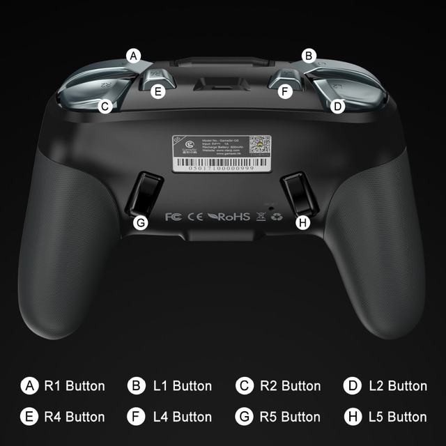 GameSir G5 Bluetooth Wireless Trackpad Touchpad Game Controller Joystic for Android phones Tables 6