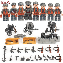 8pcs Military Army Weapon Soldier Action Figures Building Blocks Compatible Legoed WW2 World Wars Bricks Toys For Child Friends