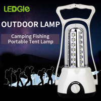 LEDGLE LED Camping Lantern Rechargeable LED Lantern Compact Outdoor Flashlight for Emergency Camping Fishing Portable Tent lamp