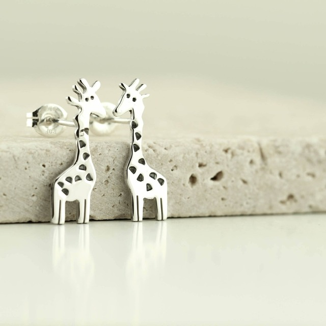 Daisies Cute Giraffe Epoxy Spots Stud Earrings Animal Jewelry for Women Party Birthyday Gift