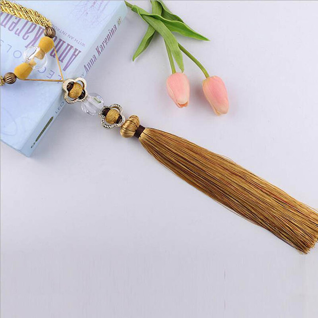 One pair Gold Home Decoration Window curtain clips accessories Hanging Belt Ball curtain strap Curtain tassel tieback Buckle