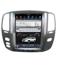 12.1 Tesla Android Car Radio Audio Sat Nav Head Unit for Toyota Land Cruiser 100 Lexus LX470 LX 470 2003 2004 2005 2006 2007