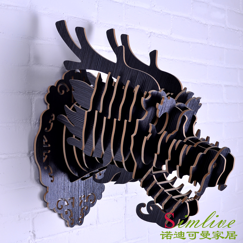 Tête de Dragon en bois nodique pour la décoration Totem, décoration murale en bois animal, décorations orientales, artisanat en bois, artisanat de dragon