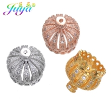Juya DIY Jewelry Suspension Fittings Ali Moda Crown Tassels Bead Caps Accessories For Fashion Earrings Necklaces Jewelry Making