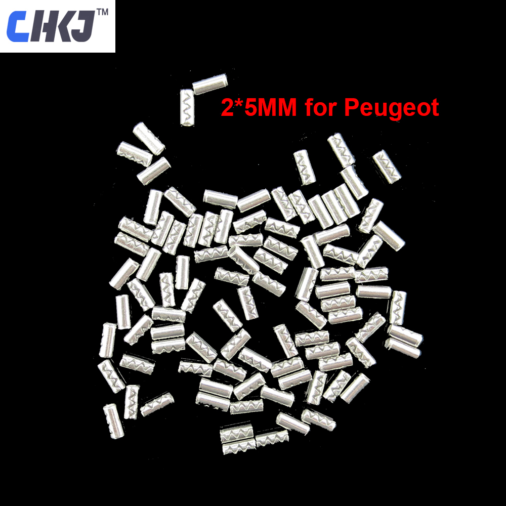 CHKJ 200pcs/lot Remote Control Key Blank Fixed Pin 2MM 2 PIN Fixed For PEUGEOT Flip Folding Remote Key Blade L:5MM D:2MM