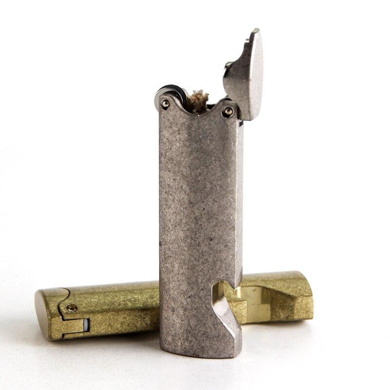 Long metal windproof kerosene lighter with bottle opener,Metal lighter,