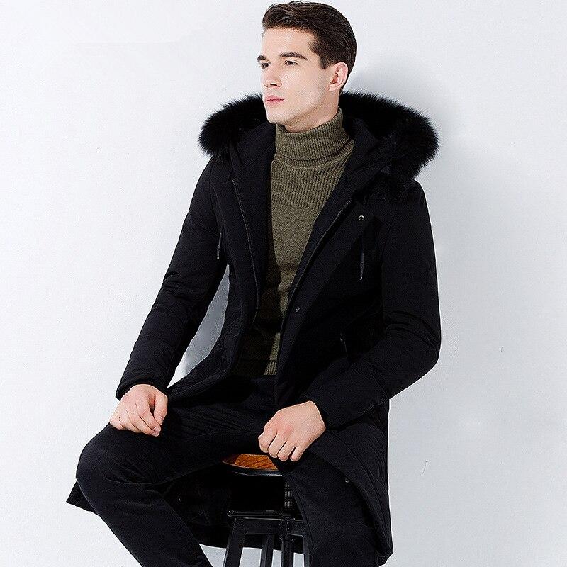 5e293d633d92 Imbottiture Hiver Lungo Inverno Parka Homme Vestiti Zl1142 Giacca 2018  Giubbotti Streetwear Anatra Black Cappotto Uomini Manteau Collare ...