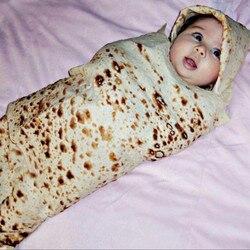 1 компл. Буррито одеяло детское мука тортилья пеленать 100% одеяло из хлопка фланели пеленка для сна обернуть шляпу для сна ребенка